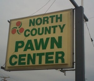 st louis pawn shop - north county pawn center sign